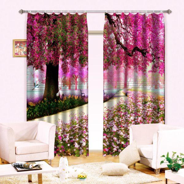25amazon zpszuwlrmsw 600x600 - Royal Purple And Pink Curtain Set