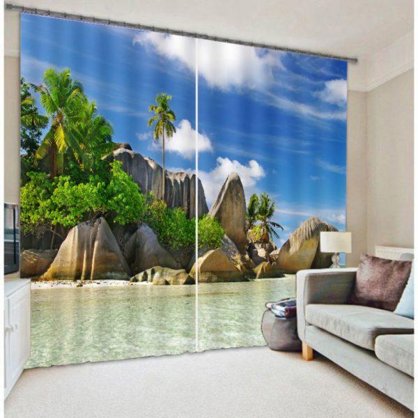 Enchanting Beach Curtain Set