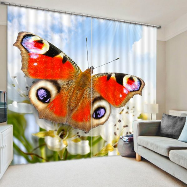 Charming Butterfly Themed Curtain Set