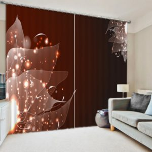 Lovely Leaf  Themed Curtain Set
