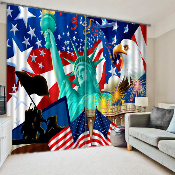 Beauteous Nation Themed Curtain Set