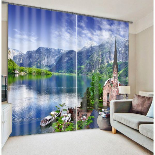 Majestic Mountain Picture Curtain Set