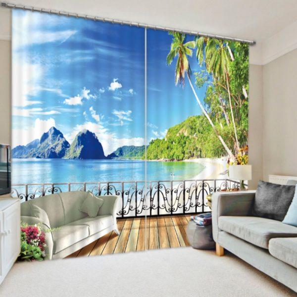 Colourful Beach Curtain Set