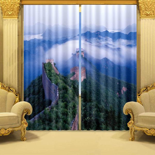 Trendy Printed Curtain Set