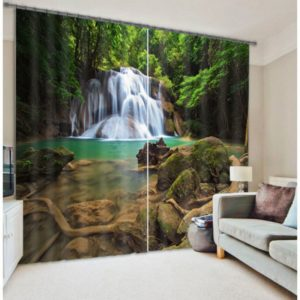 Stunning Waterfall Picture Curtain Set
