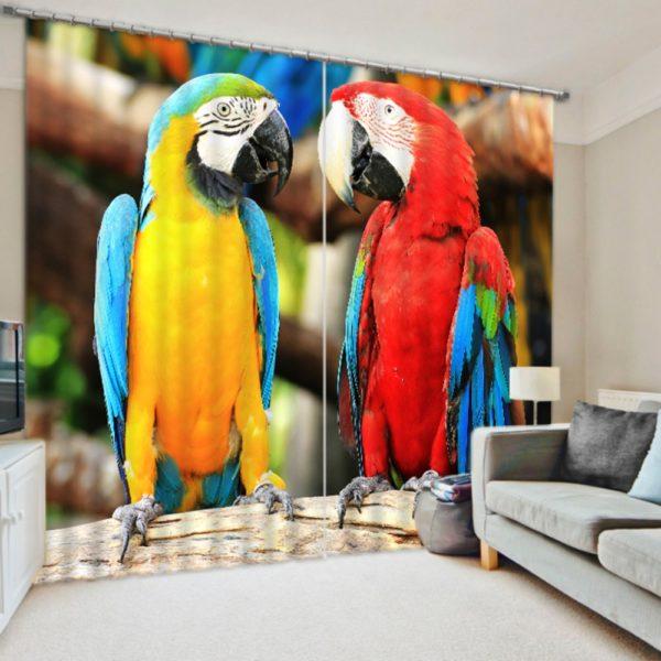 Charming Parrot Curtain set
