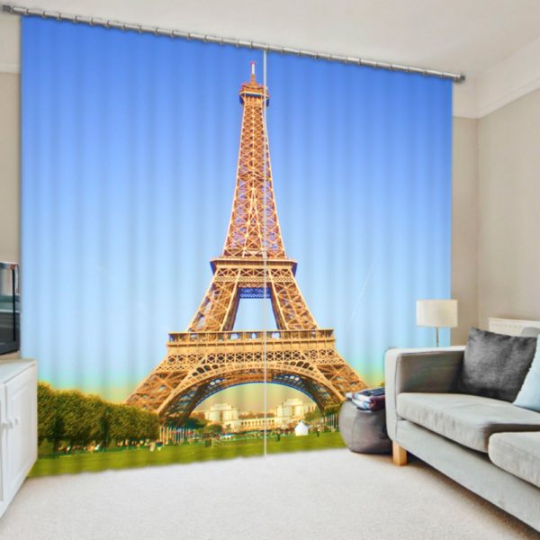 Charming Eifel Tower Curtain set
