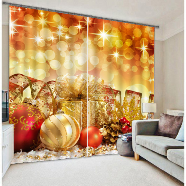 Lovely Christmas Themed Curtain set