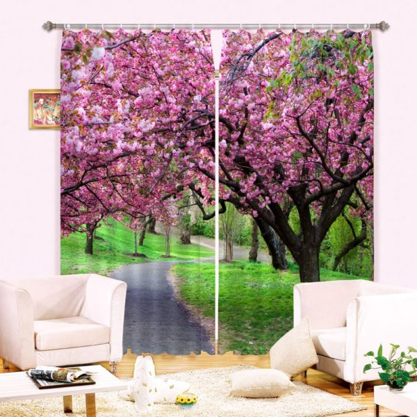 Charming Nature Themed Curtain set