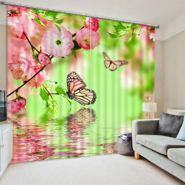 Trendy Nature Themed Curtain Set