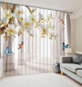 3D Butterfly Curtain Set