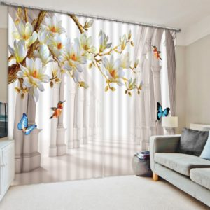 3D Butterfly Curtain Set