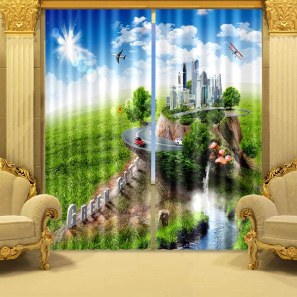 30 zpsjsrijgi6 600x600 - Trendy City Themed Curtain Set