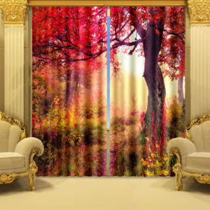 31 zpscrwjfmpx 300x300 - Romantic Red Flowers Curtain Set