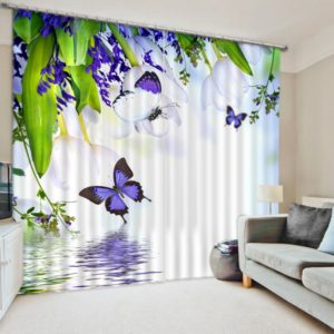 Stylish Butterfly Picture Curtain Set