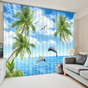 Stylish Sea themed Curtain Set