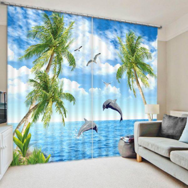 Stylish Sea themed Curtain Set