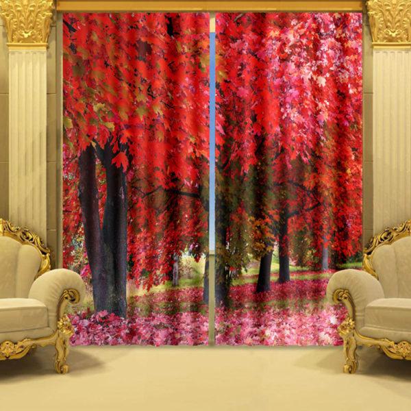 Stylish Picture Curtain Set