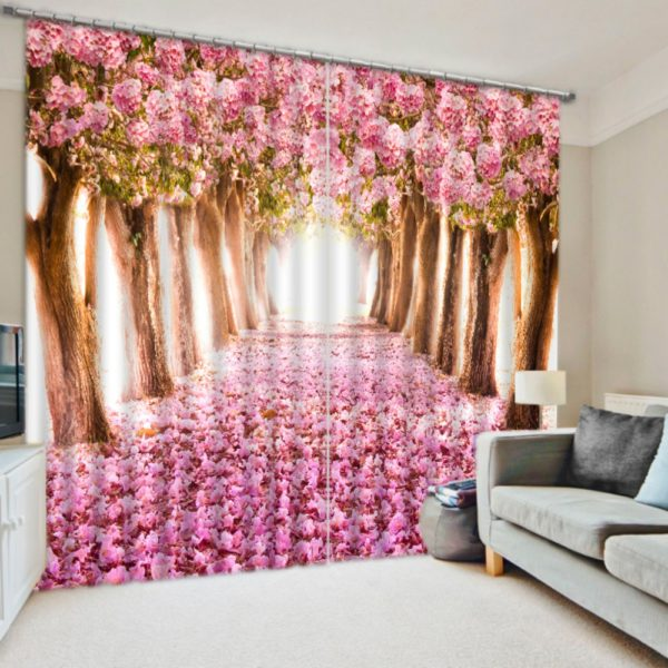 Graceful Pink Curtain Set