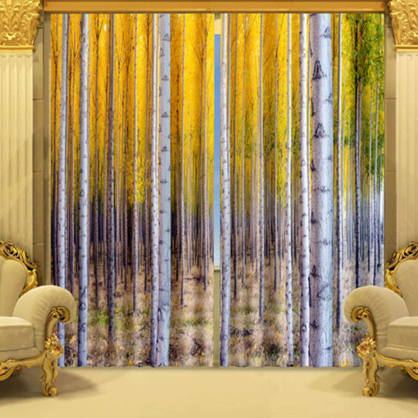33 zps80jfyvnh 600x600 - Graceful Yellow Curtain Set