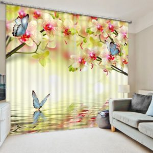 Ultra Cool And Flower Window Curtain Set