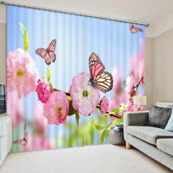 Lovely Butterfly Window Curtain Set