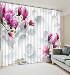 floral  3D Window Curtain Set