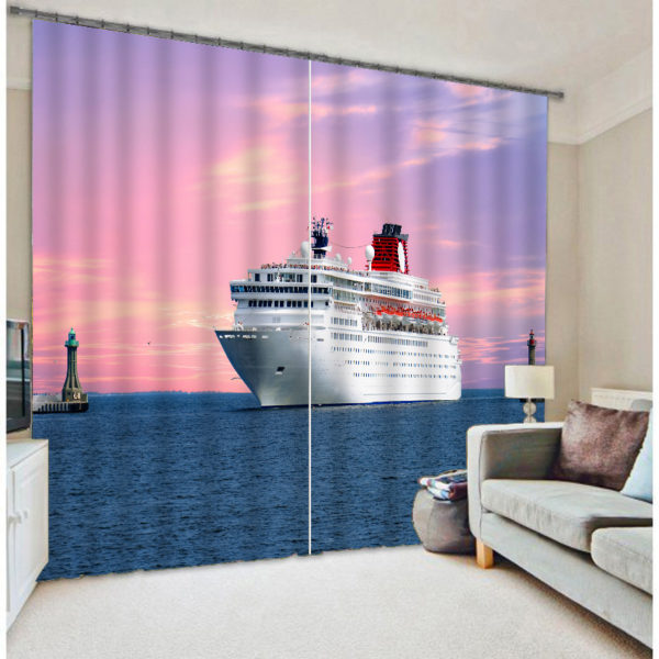 Ultra Cool And glamorous 3D Yacht Curtain Set
