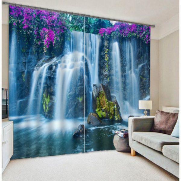 Decorative Waterfall Window Curtain Set