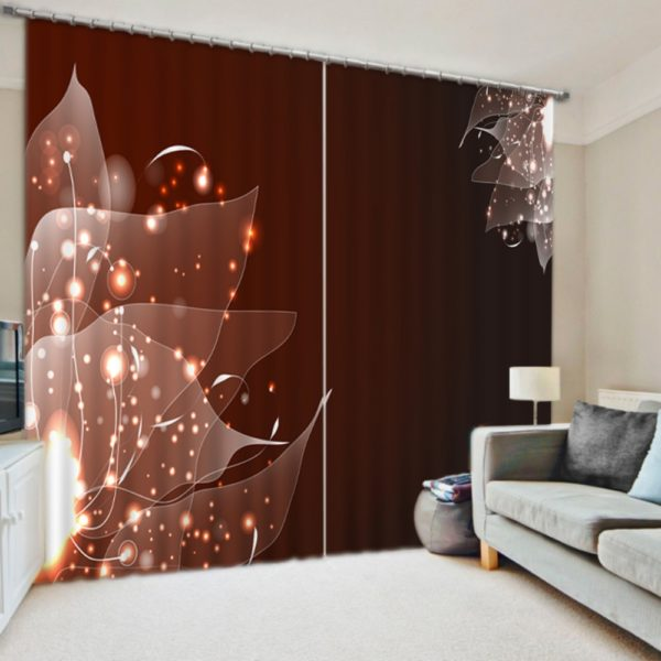 Mesmerizing Green Leaf Curtain Set