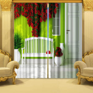 Mesmerizing Green Curtain Set