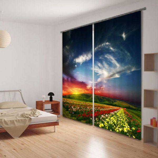 Mesmerizing Nature Themed Curtain Set