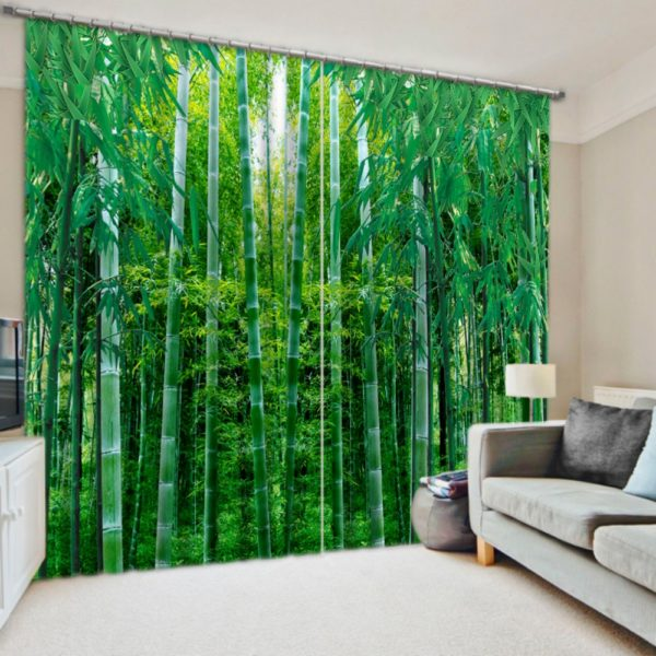 Delightful Bamboo Themed Curtain Set