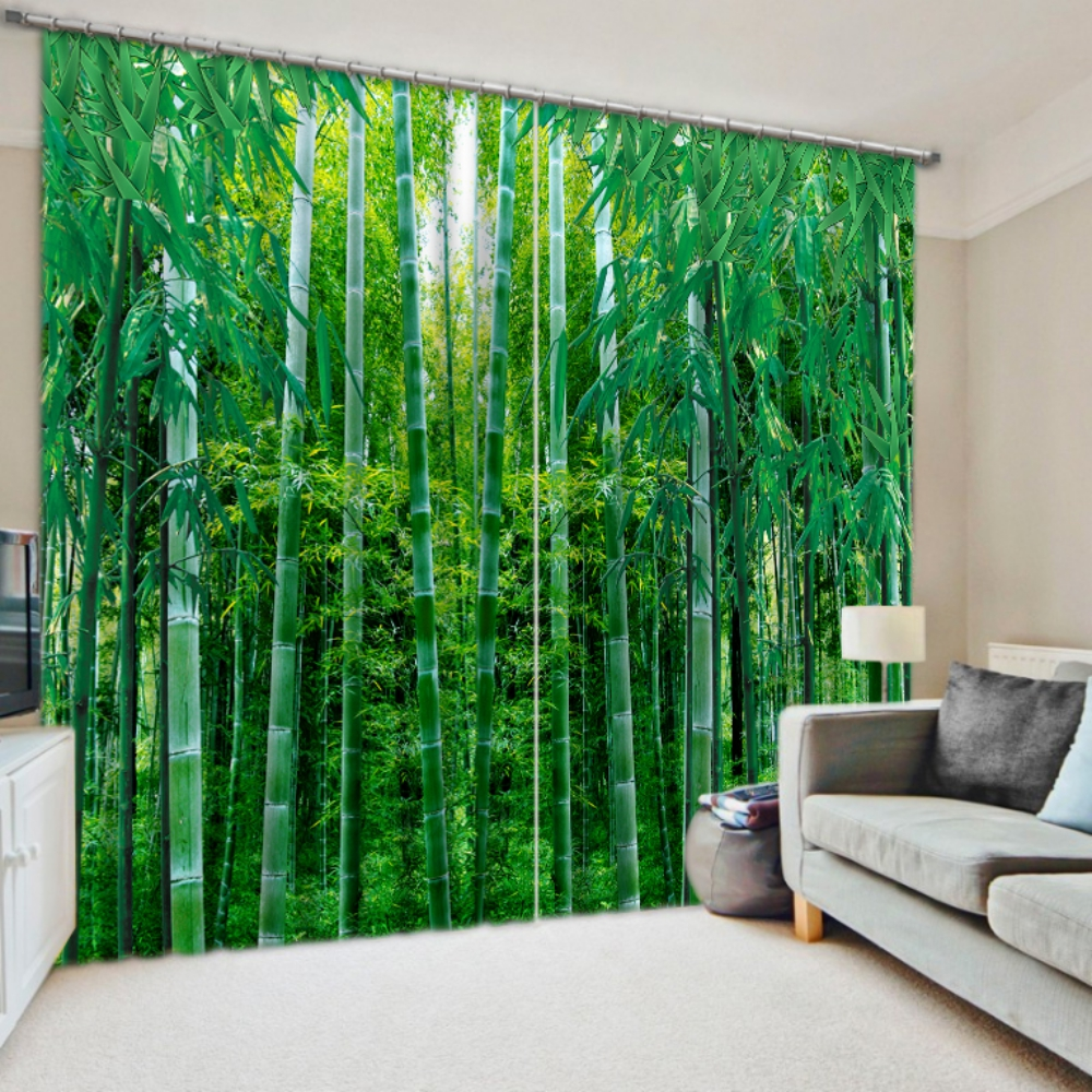 Delightful Bamboo Themed Curtain Set | EBeddingSets
