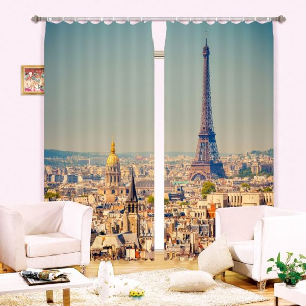 Delightful Eifel Tower Curtain Set