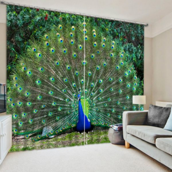 Brilliant Peacock Themed Curtain Set