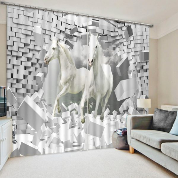 Brilliant Horse Animal Curtain Set