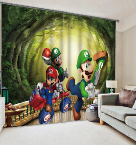 Lovely Mario And Luigi  Picture Curtain Set