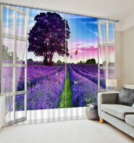 Lovely Curtain Set In Purple