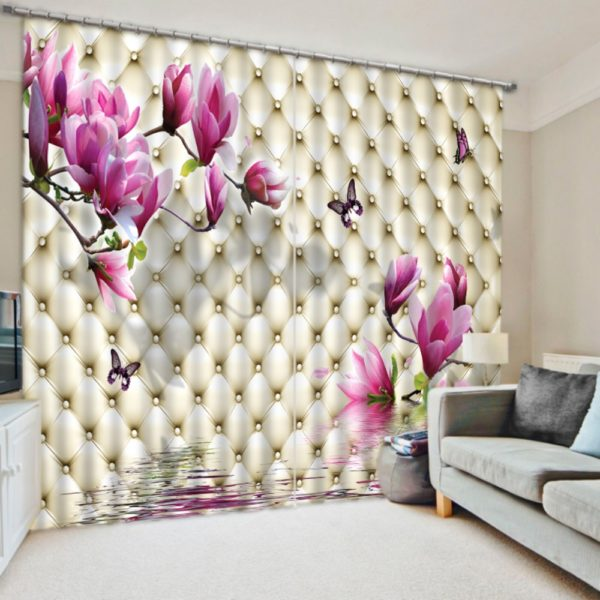 Lovely Curtain Set With Floral Theme