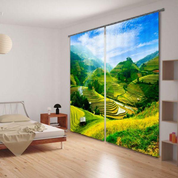 Lovely 3D Curtain Set