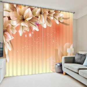 Elegant  Curtain Set with flower Theme