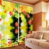Elegant  Curtain Set with Autumn Theme
