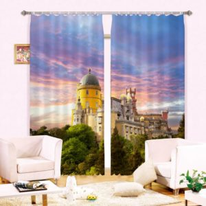 Awesome  Curtain Set with Castle Theme