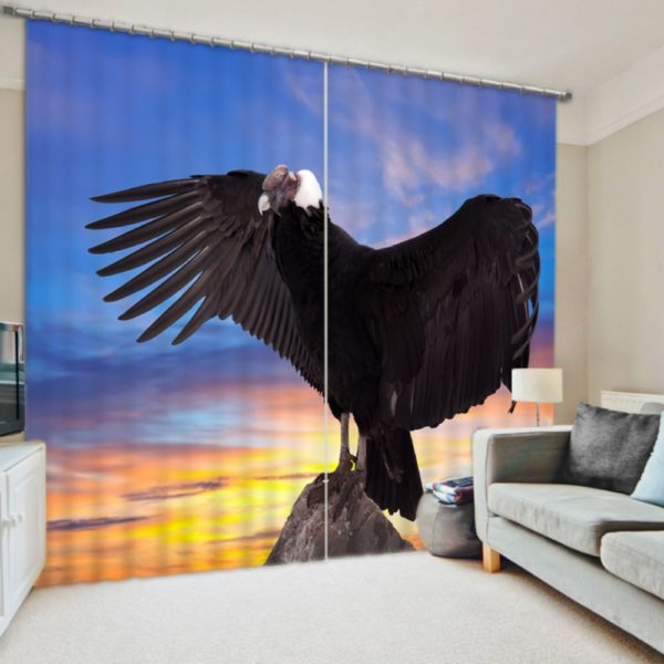 Vulture Picture Curtain set