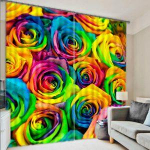 Beautiful Rose Print Curtain set
