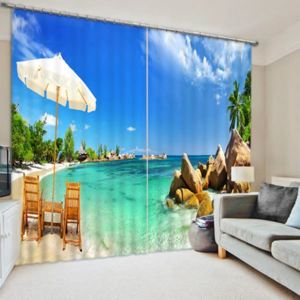Amazing Beach Curtain Set