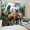 dynosure print 3d curtain set