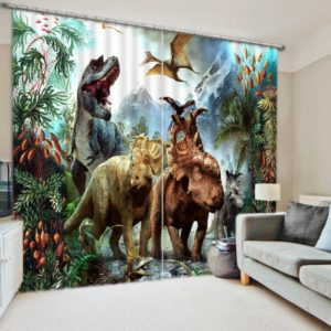 dynosure print 3d curtain set