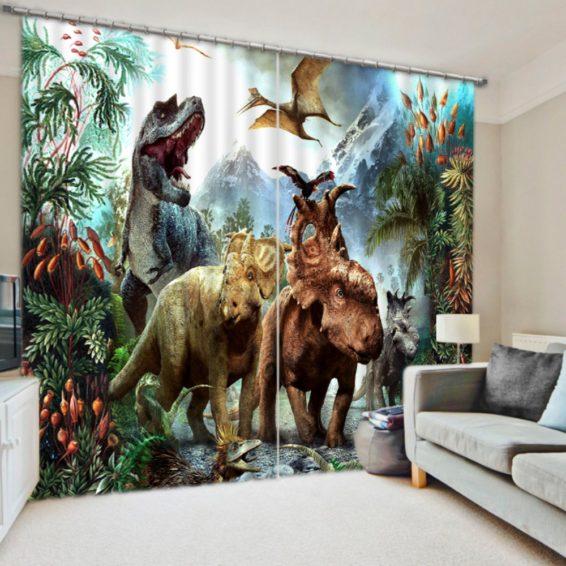 Dynosure Print 3d Curtain Set Ebeddingsets